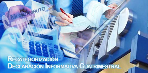 Atención Monotributistas: Vencimientos septiembre 2013: Pago, recategorización y declaración Informativa