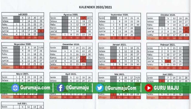 Kalender Pendidikan 2020/2021 Jawa Timur RESMI