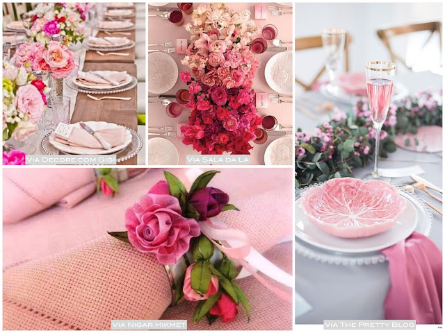 mesa ano novo cor de rosa
