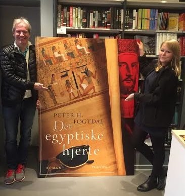 Presenting my thirteenth novel, Det egyptiske hjerte at Arnold Busck, November 2015