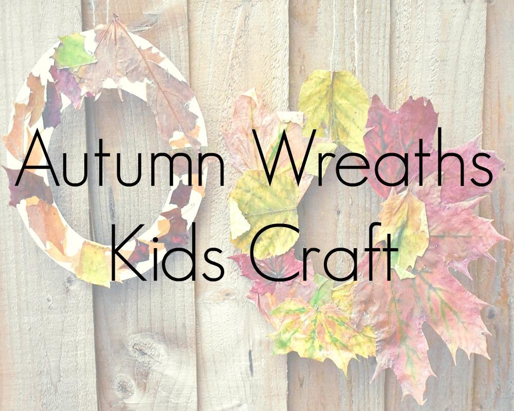 Autumn Wreaths Kids Craft Activity