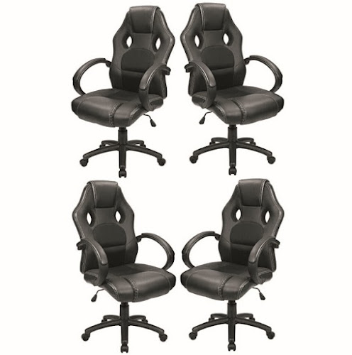 Furmax Office Chairs: PU Leather Seat with Headrest and Lumbar Support