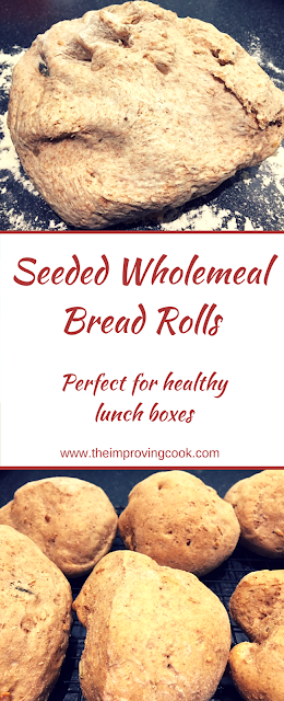 Seeded Wholemeal Rolls Pinnable image