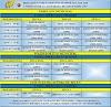 Horarios de entrenamientos 19-20