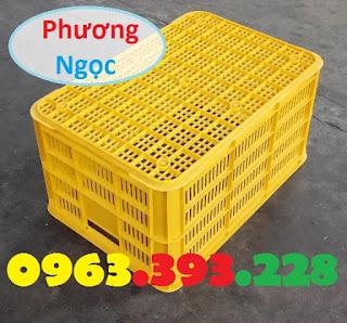 Sọt nhựa rỗng HS004 cao 31, sọt nhựa đựng nông sản, sóng nhựa hở HS004 Sot61x42x31