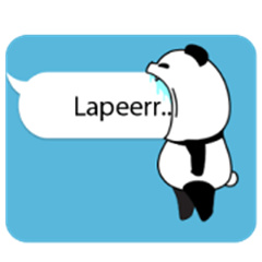 line creators stickers panda text 3 example with gif animation