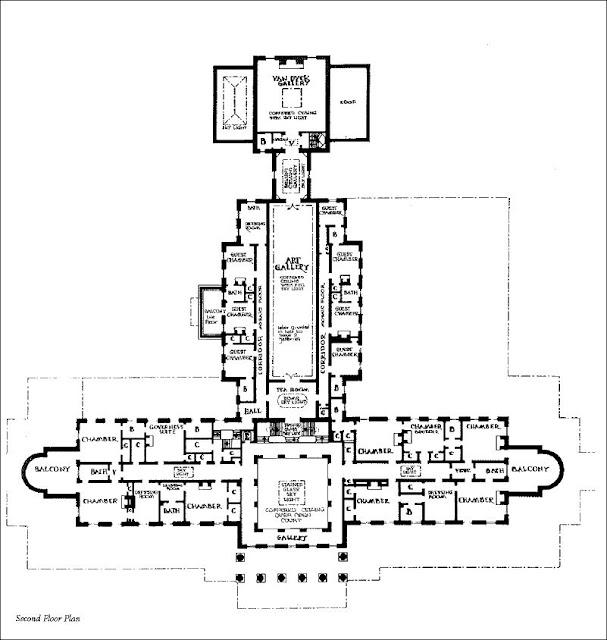 mansion floor plans  lynnewood hall  philadelphia