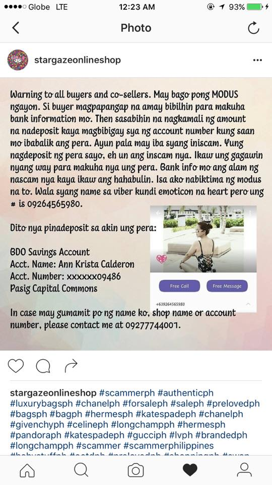 New modus operandi uses online seller's bank information to scam
