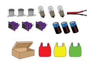 Alat dan bahan rangkaian lampu lalu lintas