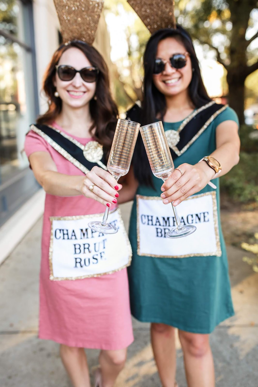 DIY Champagne bottle halloween costume