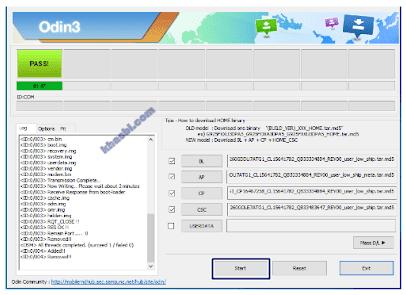 menambahkan file binary samsung a505f