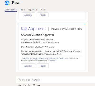 Admin gets approval notification