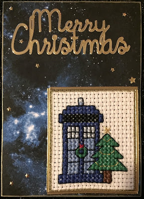 Dr Who Tardis ATC (Artist Trading Card)