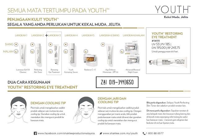 langkah penggunaan skin care youth shaklee