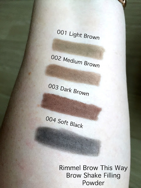 Rimmel Brow This Way Brow Shake Filling Powder Swatches