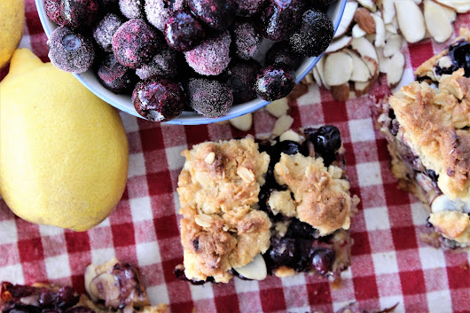 Lemon and Blueberry Bars