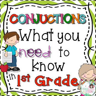 1st Grade Conjunction Activities