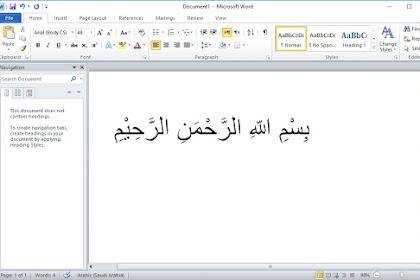 Cara Membuat Tulisan Arab Di Microsoft Word 2010