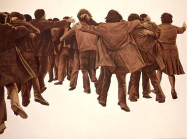 Pintura social española, Transición política, Francisco García Hortelano, Francisco Casavella
