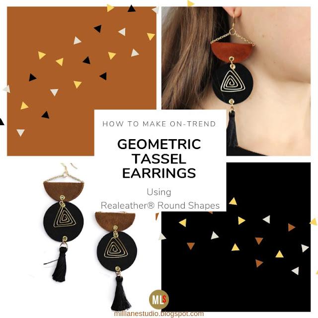 Brown and black geometric earrings blog post header