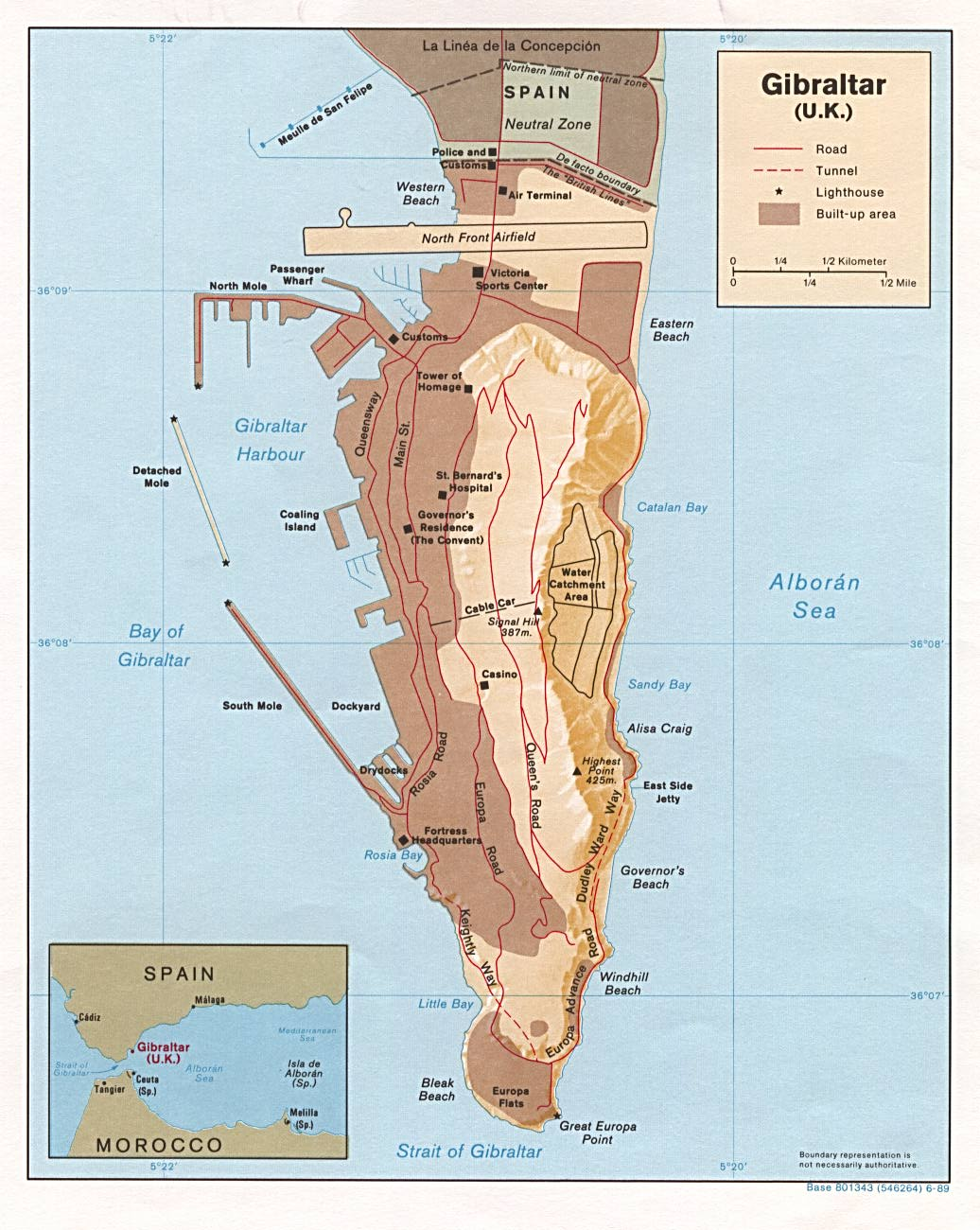 Mapas de Gibraltar | Reino Unido