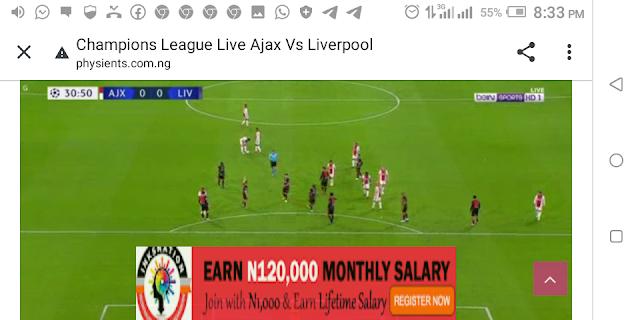 ⚽⚽⚽⚽ Champions League Ajax Vs Liverpool ⚽⚽⚽⚽