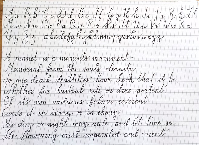 Beginning stages of learning calligraphy - it's a slow process