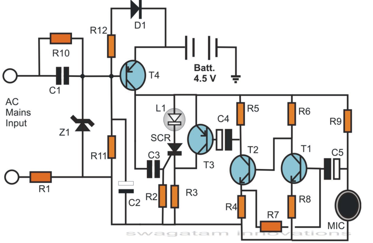 Simple Circuit Diagram Whirlpool Wiring Refrigerator Electronic Circuits Projects Pdf