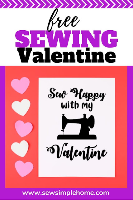 Grab this free sewing svg file perfect for Valentine's day.