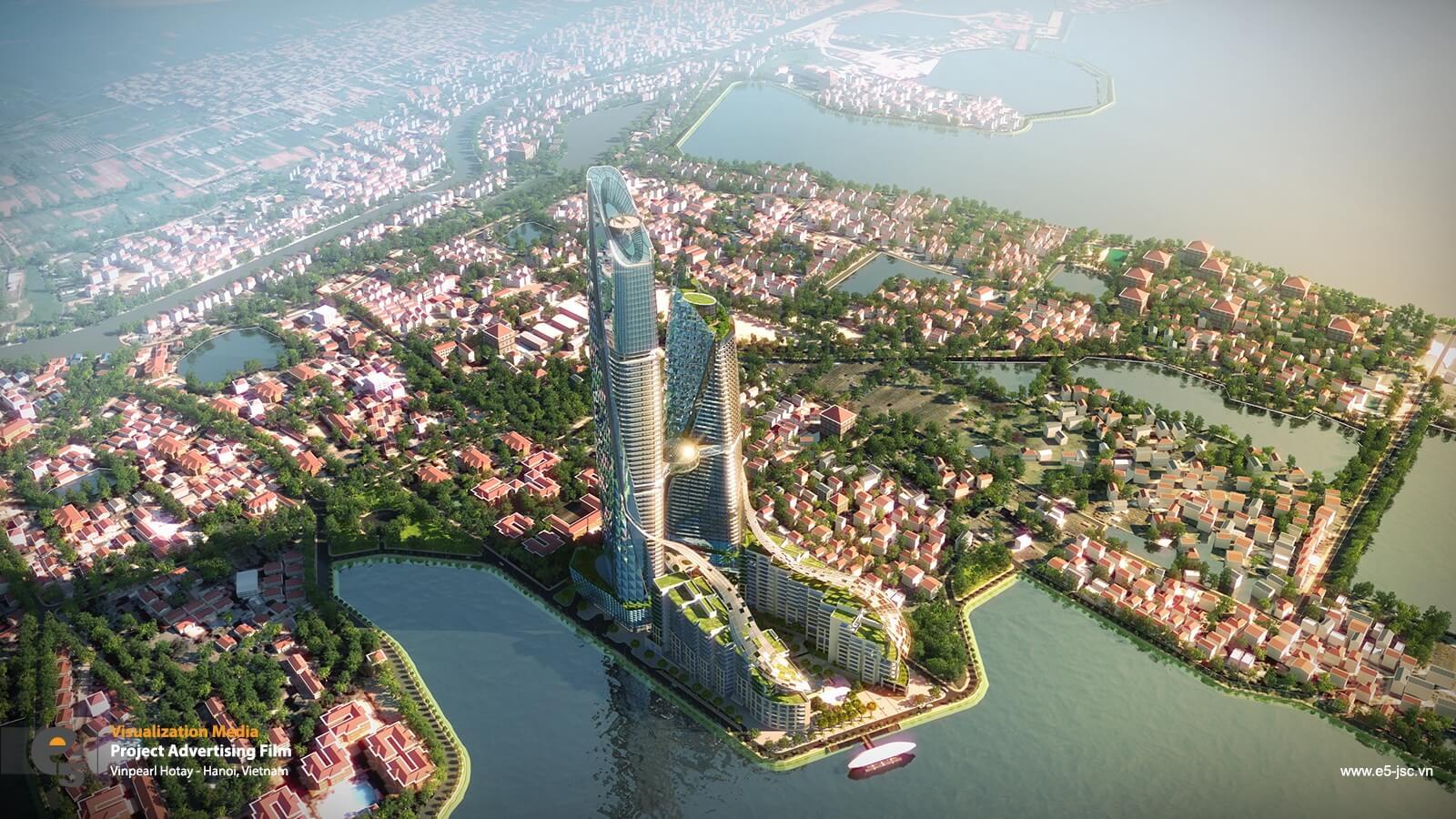 Phối cảnh Sun Grand City Quảng An.