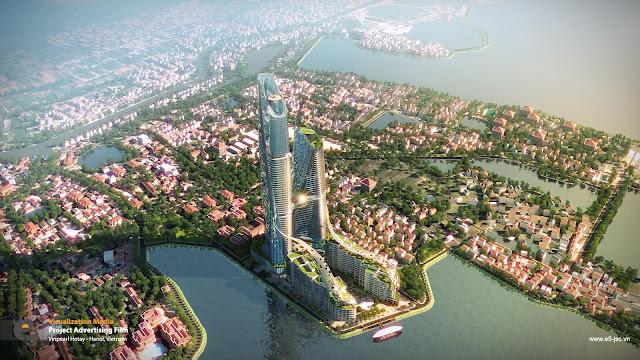 Phối cảnh tạm thời dự án chung cư Sun Group Quảng An.