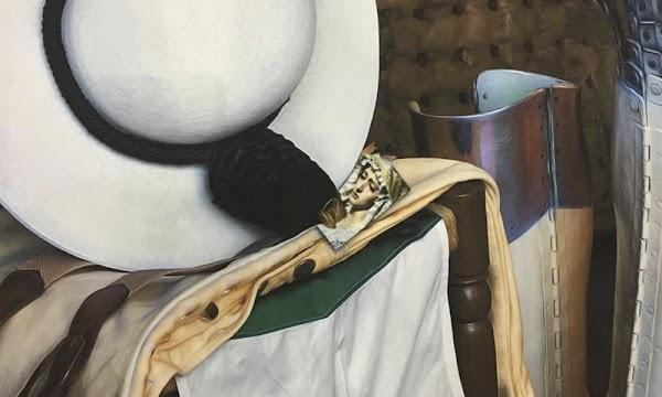 Una estampa de la Virgen de la Estrella en el cartel anunciador de la feria taurina de Colombinas 2020