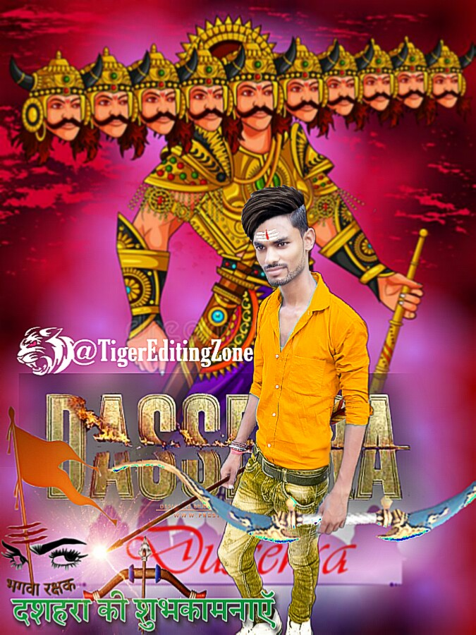 Dussehra Special Editing Background PNG | Dussehra Special Photo Editing Tutorial | TigerEditingZone