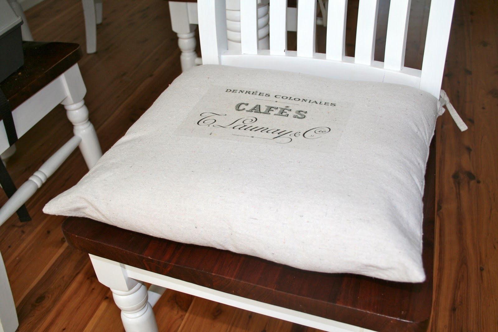 chair cushions with tie backs flight simulator vintage cafe drop cloth back