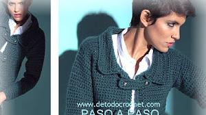 Abrigo Retro al Crochet / Paso a paso Super Fácil