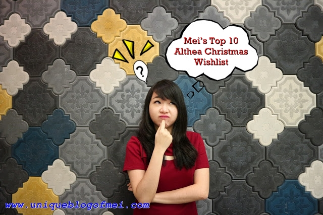 Mei's Top 10 Althea Christmas Wishlist