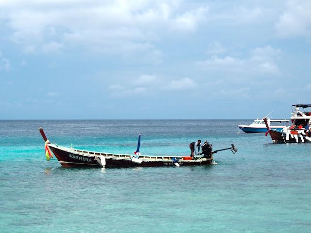 Longtail boat near Racha Island, Phuket, Thailand