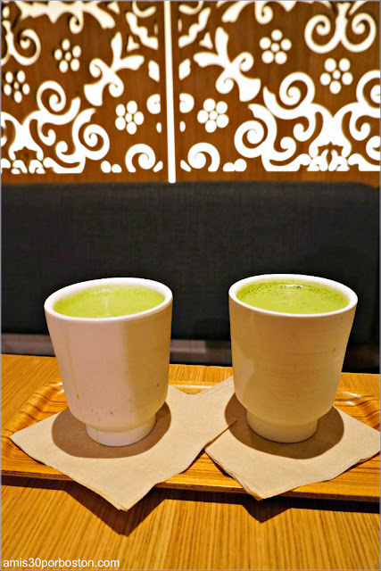 Matcha Latte en Samovar Tea Lounge en el Aeropuerto de San Francisco