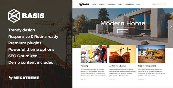Free Download Basis V1.0 Construction Business WordPress Theme