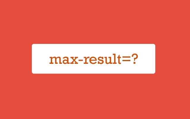 max-result=?
