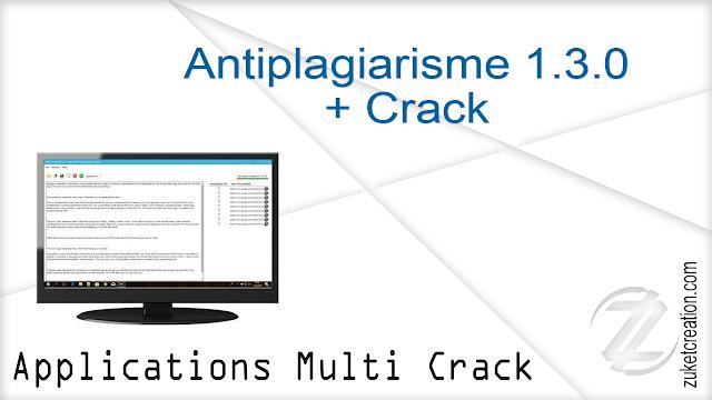 Antiplagiarisme 1.3.0 + Crack