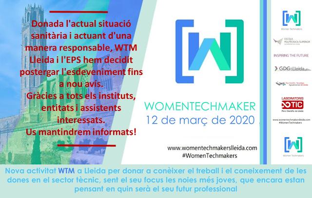 Evento de celebración del Dia Internacional de la Mujer con Womentechmakers Lleida