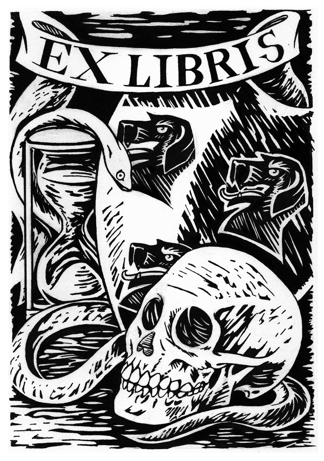 A Bookplate Aka Ex Libris Stamp From The Library Of