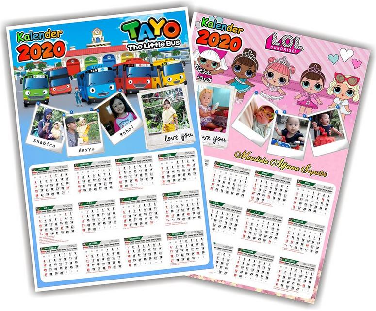 Desain Kalender 2020 Unik / Kalender Dinding 1 Tahunan ...