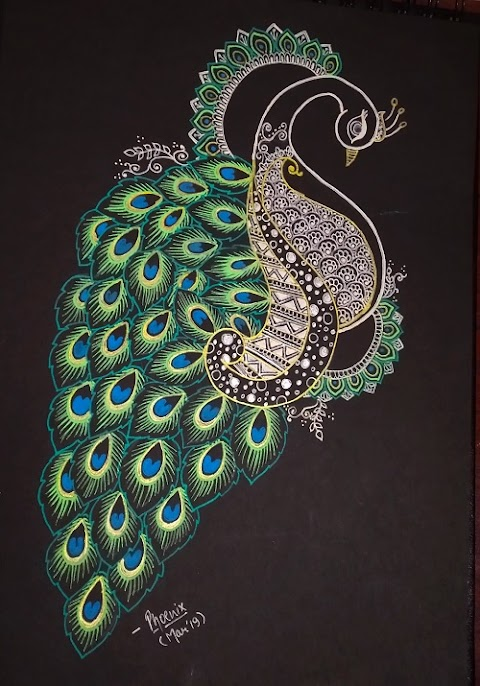 Peacock - The national Bird ( A mandala art )