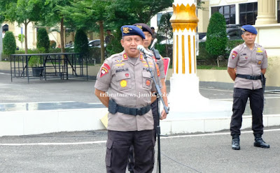 Polda Jambi Pimpin Apel Konsolidasi Tim Satgas Ilegal Driling