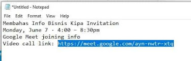 paste link google meet via pc
