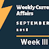 Weekly Current Affairs September - Week III