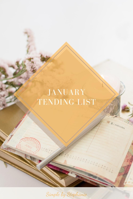 January 2021 Tending List