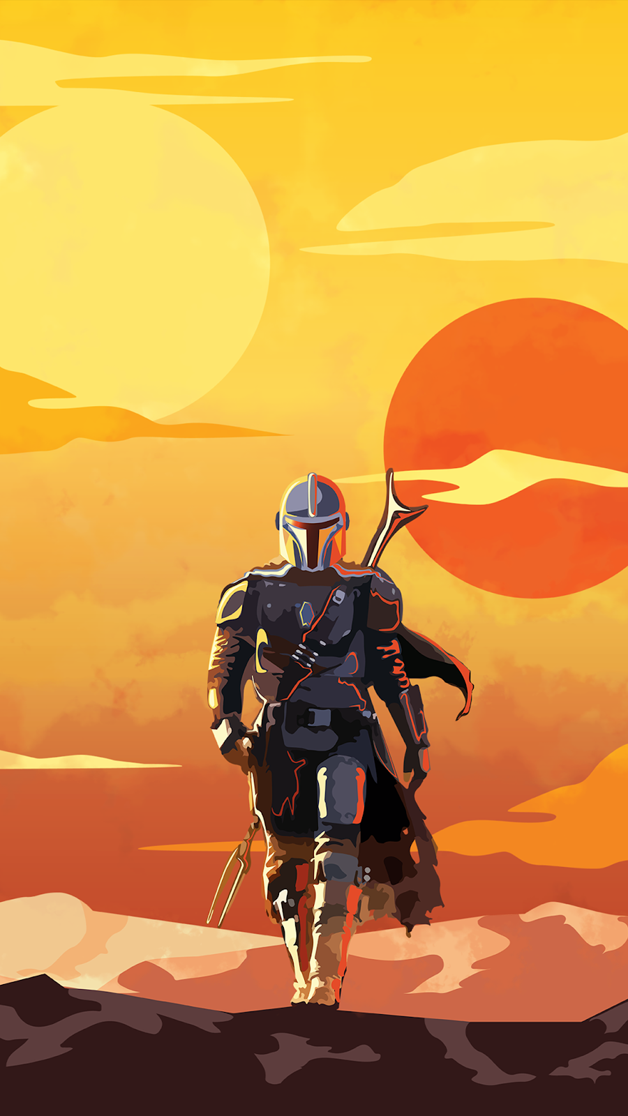 The mandalorian phone wallpaper
